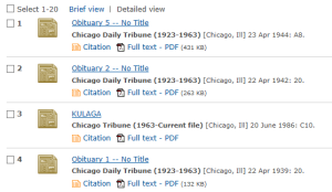 Chicago Trib Database results list2