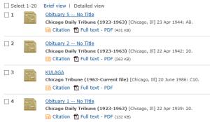 Chicago Trib Database results list2