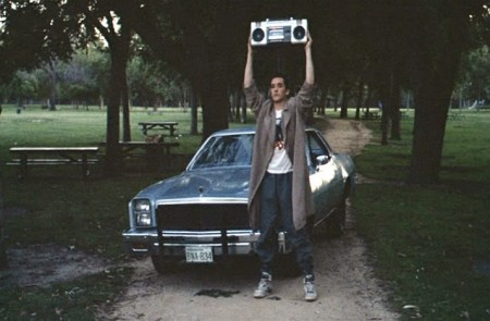 Lloyd Dobler expresses his  love the only way he knows how - through a cassette boombox