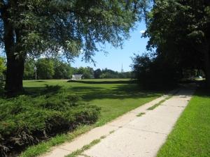 Sidewalk along Park Street
