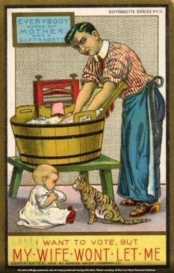 anti-suffrage postcard