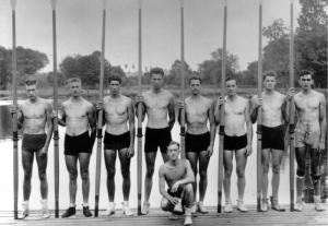 The 1936 U.S. Rowing Team that won the Gold Medal despite great obstacles.