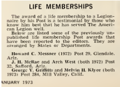American Legion Magazine, January 1972, p. 44