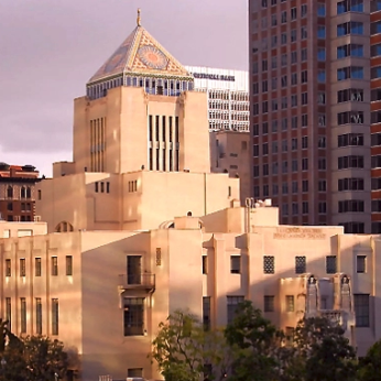 The historic Central Library of Los Angeles
