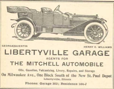 The last horse in town: The rise of the automobile in Libertyville and Mundelein: 1880-1933.