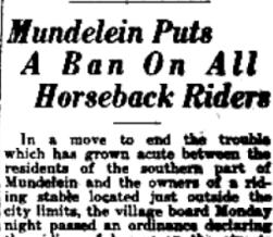 Mundelein horse
