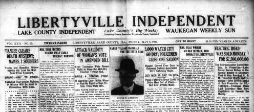 The Past is Present: Headlines! Libertyville Edition