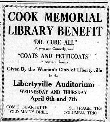 Cook Memorial Library at 100. Part Two. The Early 1920s.