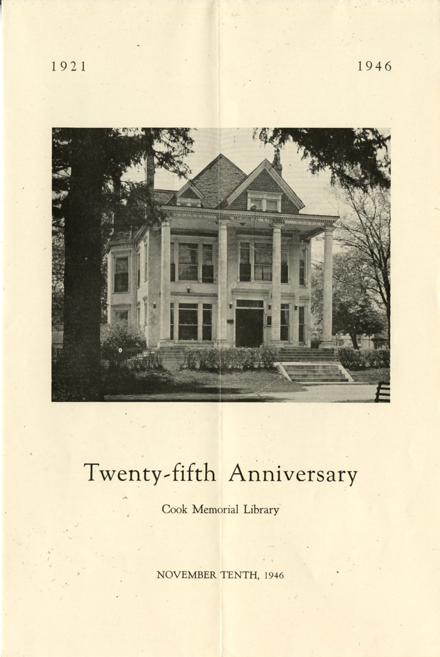 Cook Memorial Library at 100. The 1940s.